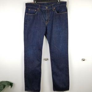 J Brand Kane slim straight leg jeans dark wash